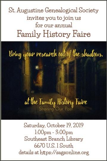 Family History Faire 201910